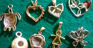 Sterling silver charms,